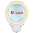 Asztali nagyítós lámpa 3 dioptria ¤125mm 84db LED-del