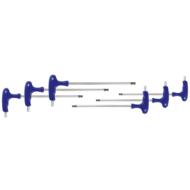 Hatszögkulcs klt. keresztmarkolattal és gömbvégű fejjel  2-6mm, 6db