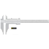 Műhelytolómérő mérőcsúcsokkal, finombeállítóval DIN862
