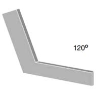 Hatszögletű laposszög 120°