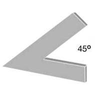 Csúcsszög 45°