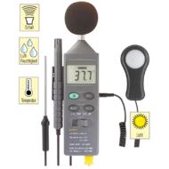 Mérőműszer, zaj- fény- hő- páratartalommérő