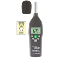 Zaj és hangmérő 30-130dBa 9V dobozban