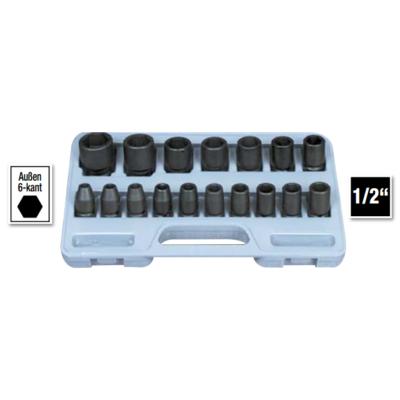 6 lapú gépi dugókulcs klt. 8-30mm, 17db