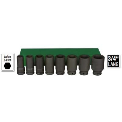 6 lapú gépi hosszú dugókulcs klt. 19-41mm, 8db