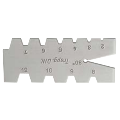Trapézmenet sablon 2-12mm