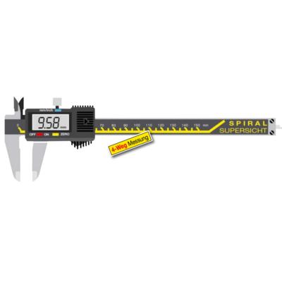 Digitális tolómérő kerek mélységmérővel nagy kijelzővel