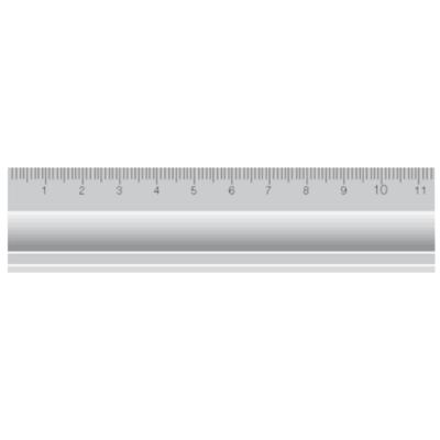 Alumínium vonalzó DIN866/B